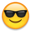 Snapchat Friend List Emojis face with sunglass