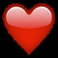 Snapchat Friend List Emojis red heart