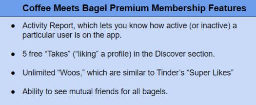 CoffeeMeetsBagel premium features